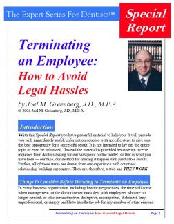 Terminating an Employee: How to Avoid Legal Hassles