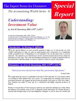 Accumulating Wealth Series #1-Understanding:Investment Value