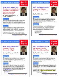 Risk Management - The Series