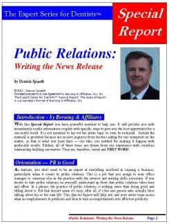 Freelance public relations writing services